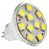 MR11 2W 10x5050SMD 120-150LM 6000-6500K Natural White Light LED Spot Bulb (12V)