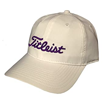 New 2014 Titleist Ladies Performance Adjustable Hat Cap, COLOR: White with Purple by Titleist