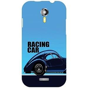Micromax A117 Canvas Magnus Back Cover - racing car Designer Cases