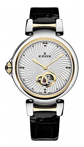 Edox-Womens-85025-357RC-AIR-LaPassion-Analog-Display-Swiss-Automatic-Black-Watch