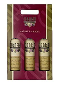 Cibaria Gourmet Gift Pack: The California Pack – CA Arbequina, CA Arbosana Extra Virgin Olive Oils w/ CA Avocado Oil