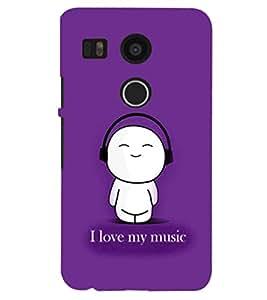 PRINTSHOPPII FUNNY MUSIC Back Case Cover for LG Google Nexus 5X::LG Google Nexus 5X (2nd Gen)::Google Nexus 5X::Nexus 5X (2015)