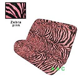 Funny product Universal-fit Animal Print Bench Seat Cover - Zebra Pink