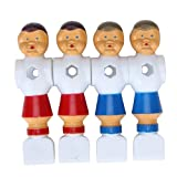 4 PCS Old Style Foosball Soccer Table Men Player (Red and Blue)