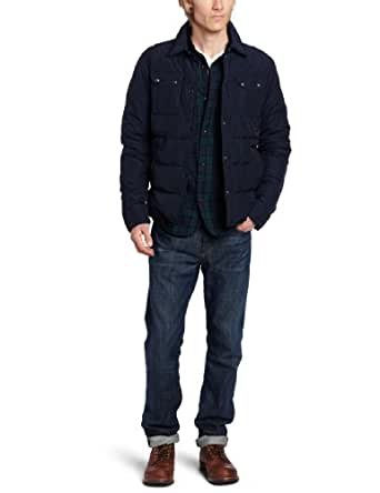 Scotch & Soda Men's Quilted Shirt Jacket, Night, X-Large