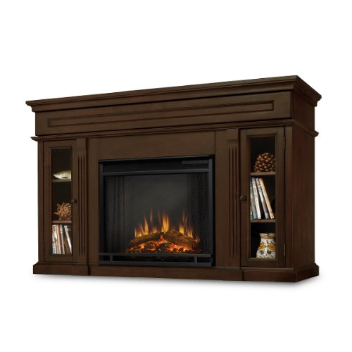 Lennonbrook Ventless Electric Entertainment Center Indoor Fireplace - Espresso photo B007R66TGE.jpg