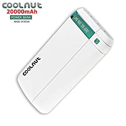 COOLNUT Power bank 20000mAh 3 - USB Output Port (White)