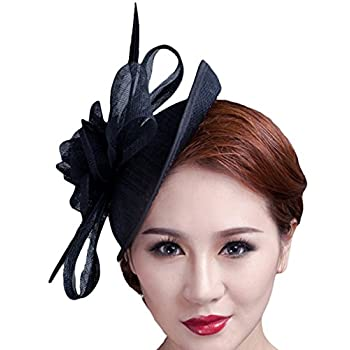 Cocktail Pillbox Hat Fascinator Hair Clip Bridal Headwear for Women