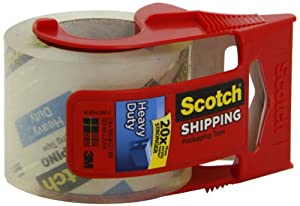 Scotch Packaging Tape with Dispenser, 2 Inches x 1000 Inches, Clear (142L)