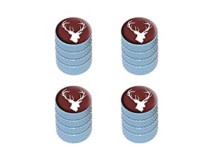 Deer – Hunting Hunter Tire Rim Valve Stem Caps – Light Blue