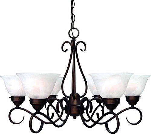 Lanett 6-Light Antique Bronze Chandelier Per Each V2446-79