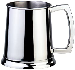 Visol Dortmund Polished Stainless Steel Beer Mug 16-Ounce Chrome