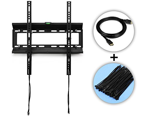 """Heavy-duty Tv Wall Mount Bracket for 20, 22, 26, 30, 32, 36, 40, 42 and 47"""" and 55"""" Plasma, Led, LCD Tv, and Plasma Tv. 15 Degree Downward Tilt, Support 120 Lbs. 400x400 Mm Vesa Compliant - ²Tocmz"""