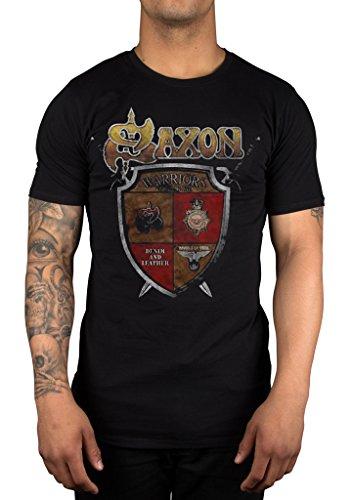 Saxon ufficiale est 1979maglietta Heavy Metal Biff Byford Black X-Large