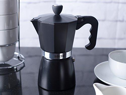 La Cafetiere Black Classic 6 Cup Stovetop Espresso