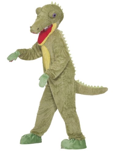 Forum Novelties Men's What A Croc Plush Crocodile Mascot Costume, Green, One Size