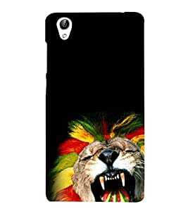 Vizagbeats Roaring Lion Back Case Cover for Oppo F1 Plus