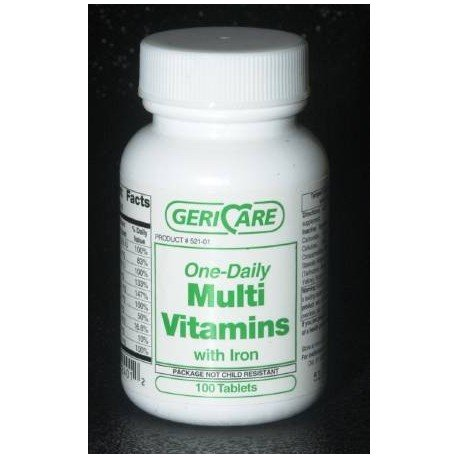 Vit Multi W/Iron Tab1000S 1000Ea/Bt 12Bt/Cs Mck Brand - Bt/1000