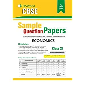 Oswaal CBSE Sample Question Papers, Economics for Class 11