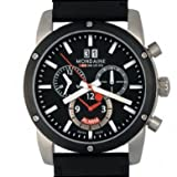 MONDAINE Watches:Men's Sport II Chrono Alarm by Mondaine - Stainless - Black Dial - Black Leather