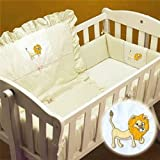 Yellow Lion Cradle Bedding