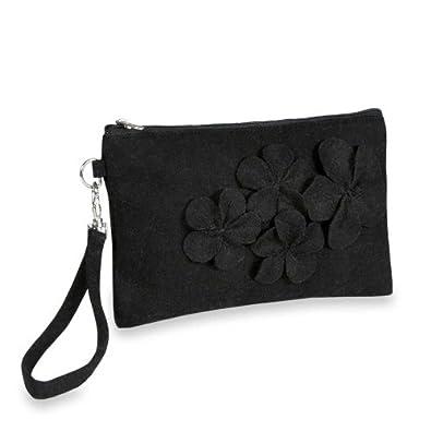 Floral Wristlet - Felt (Black)