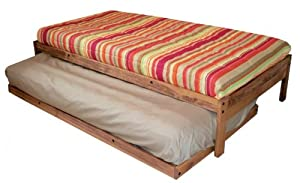 Santa Cruz Extra Long Twin Bed with Twin Trundle (Toasted Pecan)