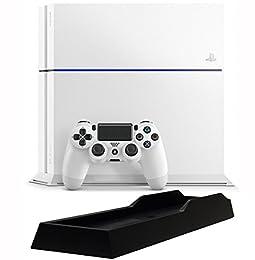 PlayStation 4 グレイシャー・ホワイト (CUH-1200AB02) 【Amazon.co.jp限定特典】アンサー PS4用縦置きスタンド付