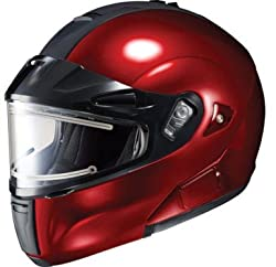 HJC IS-Max BT Modular Inner Shield Snow Helmet Wine Dual Lens Shield