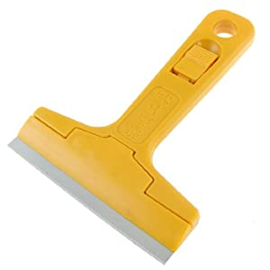 Metal Blade Orange Plastic Handle Wall Decal Remover Scraper Cleaner