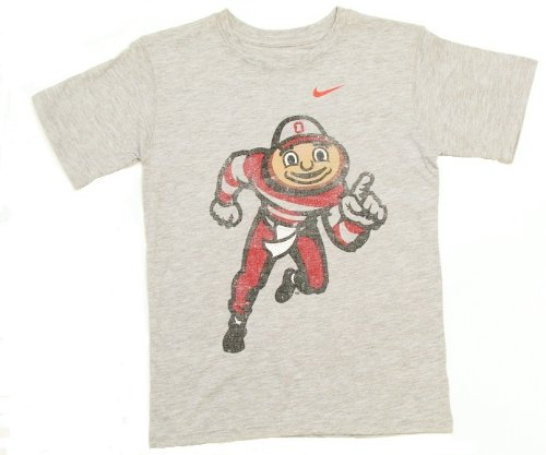 Ohio state buckeyes nike grey brutus mascot youth t shirt for Ohio state t shirts for kids