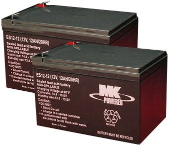 MK Battery 12V 12 AH Sealed AGM Pair - Currie,