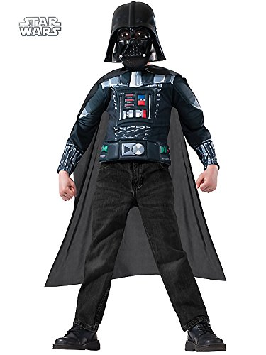 Darth Vader Muscle Chest Shirt Set Costume for Kids