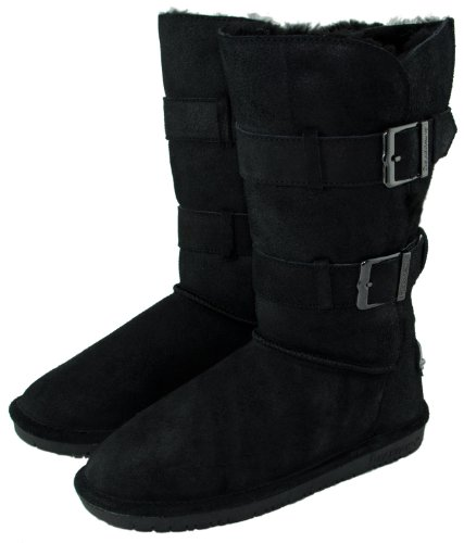 BEARPAW Women's Taylor Boot,Black,7 M US