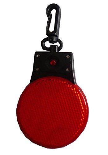 LED-blinkende-reflektierende-Scheibe-mit-Clip-fr-Taschen-Kleidung-Kinderwagen-Fahrrad-doppelseitig-Rot