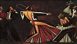 32W x 18H Tango Romance by Andrei Protsouk - Stretched Canvas w/ BRUSHSTROKES