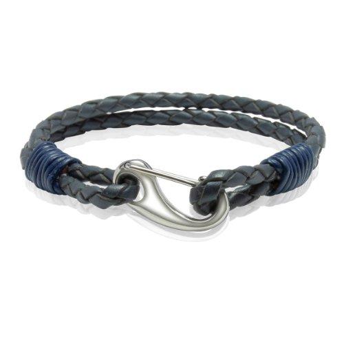 Bliss Republic Unisex Bracelet Leather Grey Blue / Dark Blue 21 cm 60160101