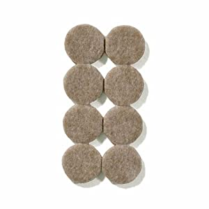 "TAN 1"" Diameter Heavy Duty Felt Pads - 144 Pcs (8 Pcs/Pad)"