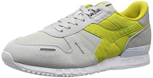 Diadora Men's Titan II Skate Shoe, Lunar Rock/Lemon Grass Green, 10.5 M US