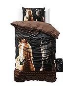 SleepTime Juego De Funda Nórdica Horses (Marrón)