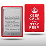 "AMAZON KINDLE 4 ""KEEP CALM AND STAY REEM"" SILIKON SKIN CASE SCHUTZH�LLE IN ROT/WEI�von ""CELLAPOD"""