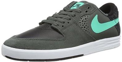NIKE  Paul Rodriguez 7, Chaussures de skateboard homme - Gris - Grau (Dark Base Grey/Crystal Mint-Black 030), 41 EU
