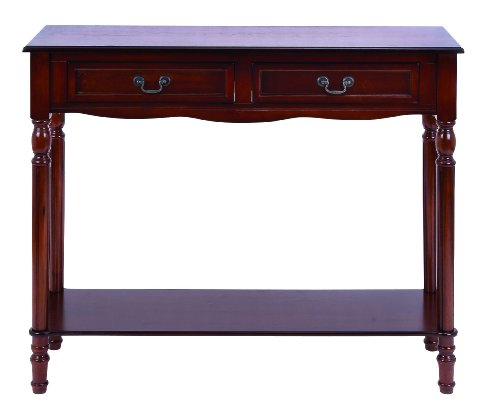 Cheap Old Look Mahogany Wood Console Table (B009D4T870)