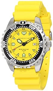 Momentum Men's 1M-DV00Y1Y M1 Yellow Dial Yellow Hyper Natural Rubber Watch