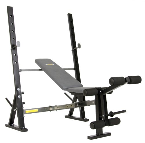 Body Champ Olympic Weight Bench, Silver/Black