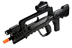 Soft Air Famas Tactical Rifle/Red Dot Scope/Silencer/Light, Black