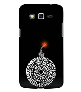 EPICCASE dynamite black Mobile Back Case Cover For Samsung Galaxy Grand Max & Grand 3 (Designer Case)