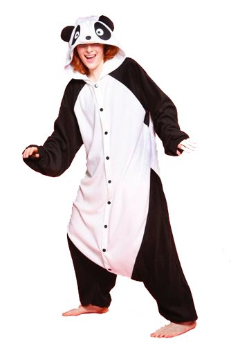 Adult Panda Bear Costume Pajamas