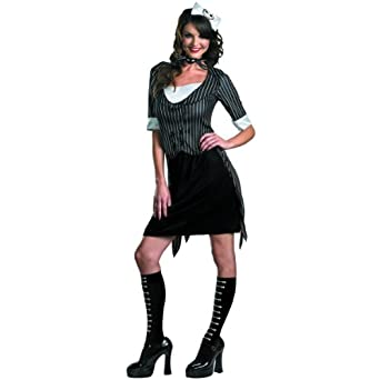 Disguise Unisex Adult Sassy Jack Skellington, Black/White, Large (12-14) Costume