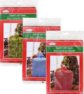 Giant Gift Bags 36 x 44 (Set of 3) - Christmas Holiday Extra Large Oversize Cellophane Bags